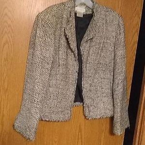 Vintage Worthington fringed blazer 100% Silk